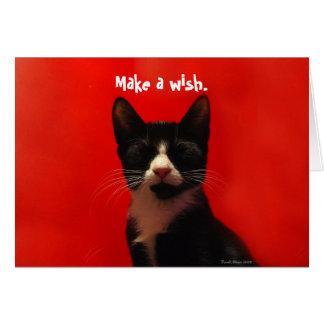 Faites un ^_^ de souhait carte de vœux