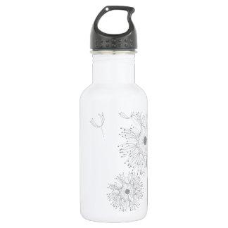 Faites un pissenlit de souhait bouteille d'eau