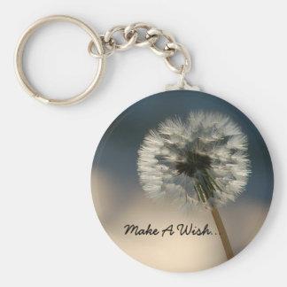 Faites un porte - clé de souhait porte-clé rond
