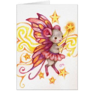 Faites un souhait - carte d'art de souris