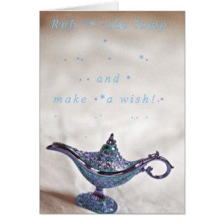 Faites un souhait ! carte de vœux