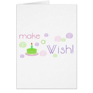 Faites un souhait carte de vœux