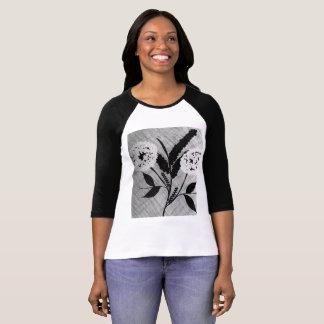 Faites un souhait. Conception abstraite florale de T-shirt