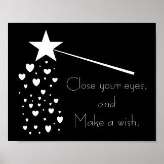 Faites une affiche de Frameable de souhait Posters