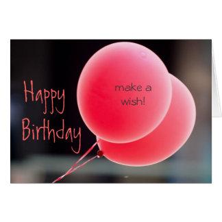 Faites une carte d'anniversaire de souhait
