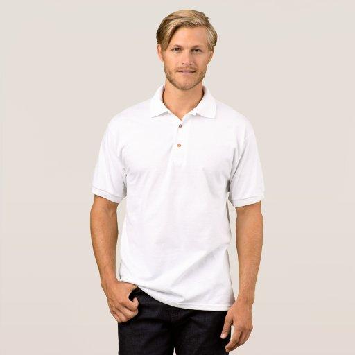 Polo Gildan en jersey, Blanc
