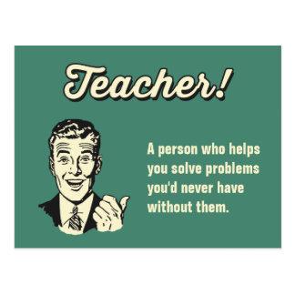 Faites votre propre définition drôle de professeur carte postale