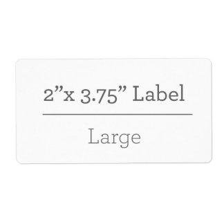 Faites votre propre étiquette 8,5 x 11