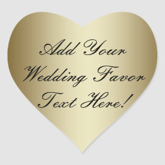 Faites votre propre faveur de mariage d'or autocollants