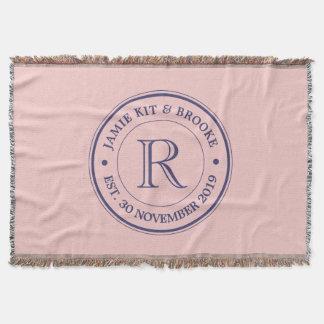 Faites votre propre monogramme de logo de rose de couverture