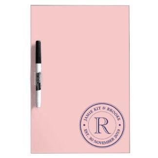 Faites votre propre monogramme de logo de rose de tableaux effaçables à sec
