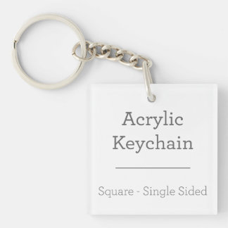 Faites votre propre porte - clé carré porte-clefs