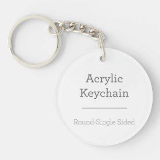 Faites votre propre porte - clé rond porte-clé rond en acrylique une face
