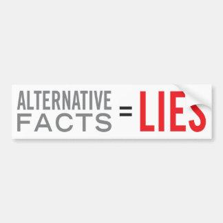 Faits = mensonges alternatifs autocollant de voiture