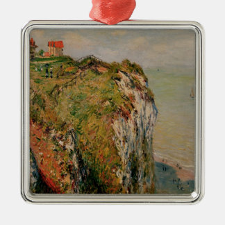 Falaise de Claude Monet | chez Dieppe, 1882 Ornement Carré Argenté