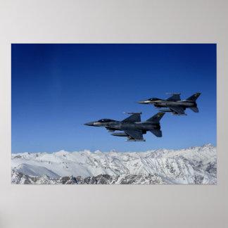 Falcons de combat de F-16 de l'Armée de l'Air Poster