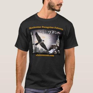 Falcons pérégrins de Rochester de T-shirt foncé
