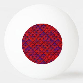 Falln échelles rouges et de pourpre balle tennis de table