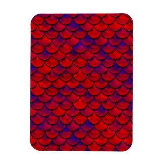 Falln échelles rouges et de pourpre magnet flexible
