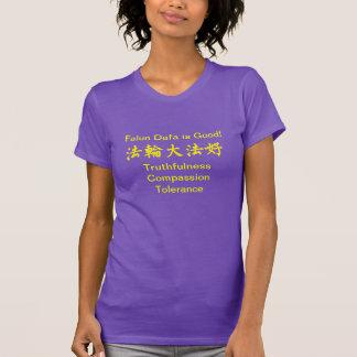 Falun Dafa est bon T-shirt pourpre
