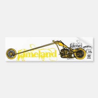 Fameland Garage Company - édition jaune Autocollant Pour Voiture