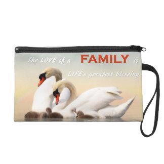 Famille de cygne sacs à main avec dragonne