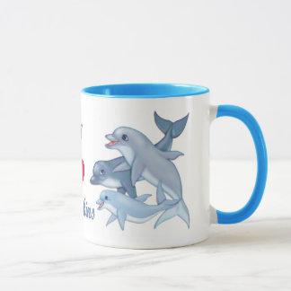 Famille de dauphin mug