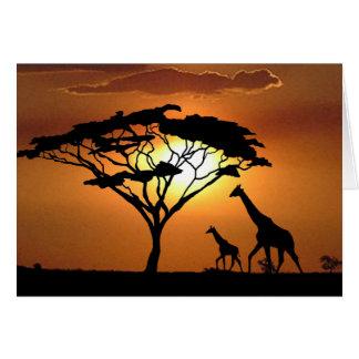 famille de girafe carte de vœux