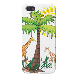 Famille de girafe étuis iPhone 5