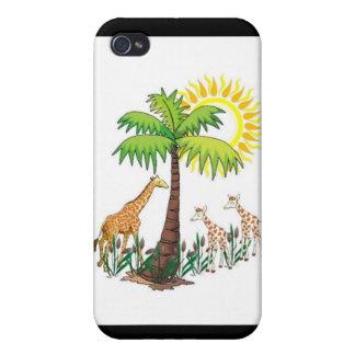 Famille de girafe coque iPhone 4