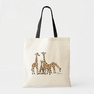 Famille de girafe dans Brown et sac fourre-tout