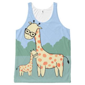 Famille de girafe - gilet débardeur tout-imprimé