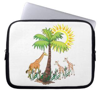 Famille de girafe trousses pour ordinateur portable