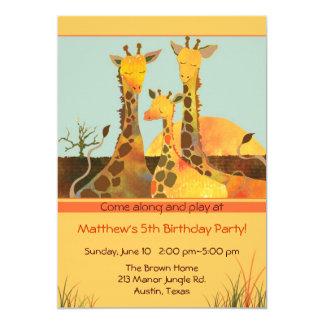 Famille de girafe : Invitation de partie