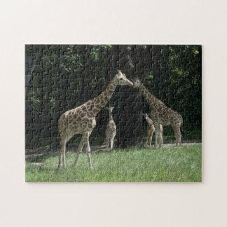 Famille de girafe puzzles avec photo