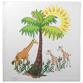 Famille de girafe serviette en tissu