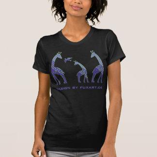 Famille de girafes avec l'oiseau t-shirt