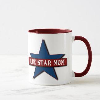 Famille de militaires de maman d'étoile bleue tasse