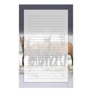 Famille de moutons de montagne papeterie
