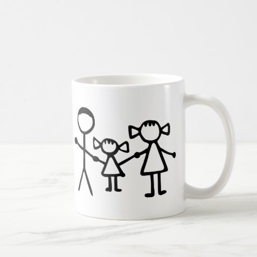 Famille de Stickman Mugs À Café