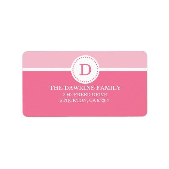 Famille décorée d'un monogramme faite sur commande étiquette d'adresse