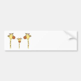Famille des girafes. Bande dessinée Autocollant De Voiture
