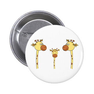 Famille des girafes. Bande dessinée Pin's Avec Agrafe