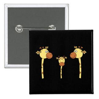 Famille des girafes. Bande dessinée Badges Avec Agrafe