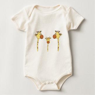 Famille des girafes. Bande dessinée Barboteuses