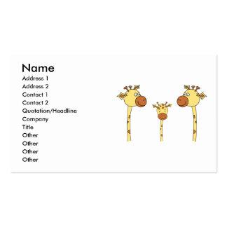Famille des girafes. Bande dessinée Modèles De Cartes De Visite