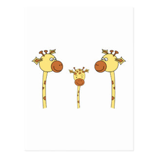 Famille des girafes. Bande dessinée Carte Postale