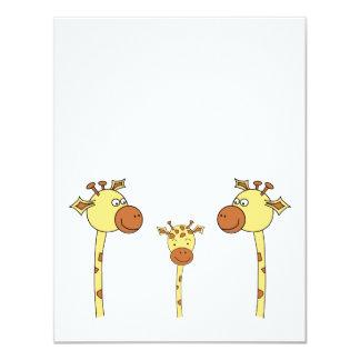 Famille des girafes. Bande dessinée Faire-part Personnalisables