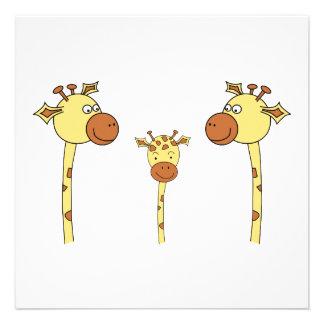 Famille des girafes. Bande dessinée Faire-part