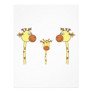 Famille des girafes. Bande dessinée Prospectus